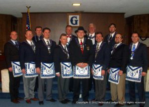 The 2012 Officers of Nebraska Lodge #1