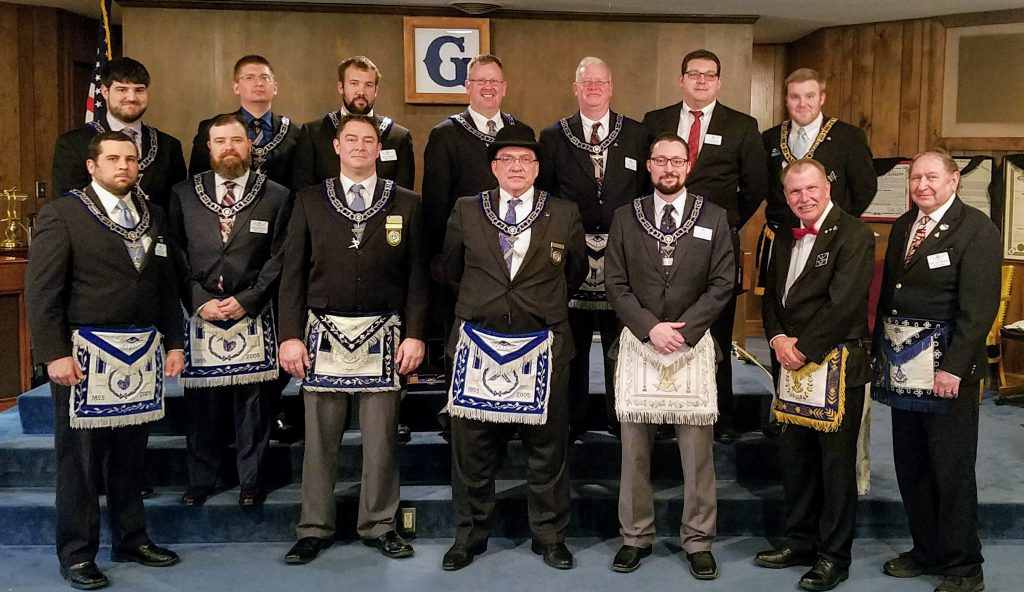 The 2018 Officers of Nebraska Lodge #1